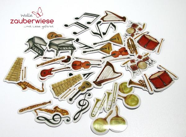 Aufkleber Musikinstrumente