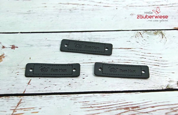 Etiketten Handmade schwarz