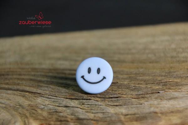 Knopf 15mm Smiley hellblau