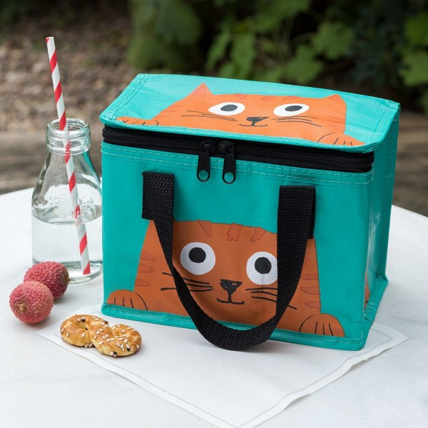 Isolierte Lunchtasche Katze Chester