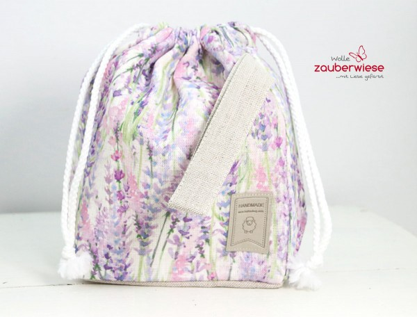 Strickbeutel Lavendel mini