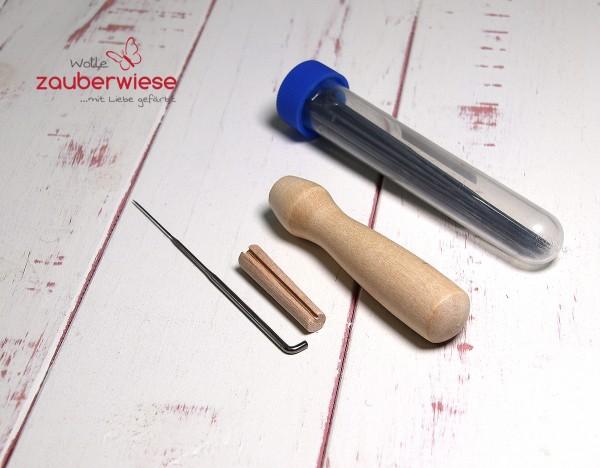 Filznadelhalter Set mit Nadeln