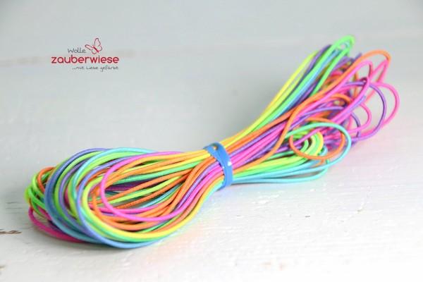 Gummiband 1mm neon