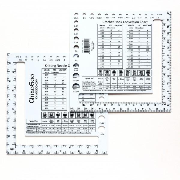 Nadelmaß für Maschenprobe 14 cm