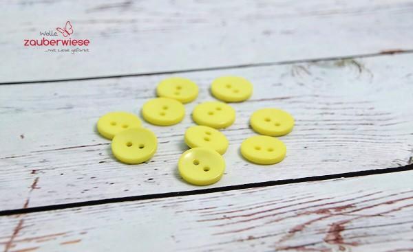Knöpfe gelb, 10Stk., 15mm