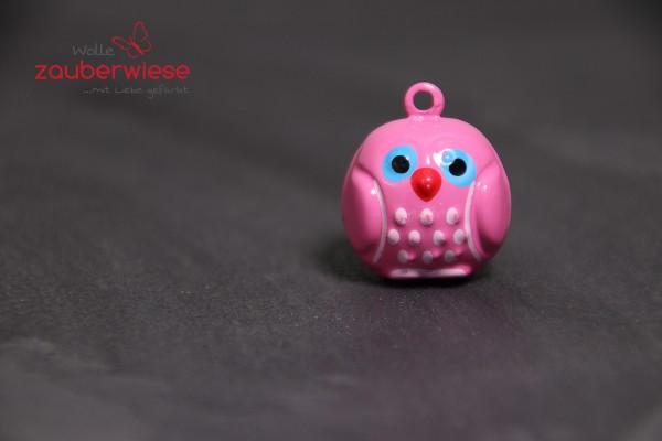 Schelle Eule pink