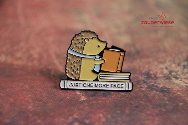 Emaille Pin just one more page