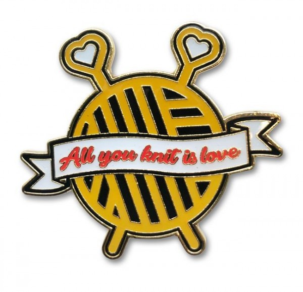 Emaille Pin - All you knit is love