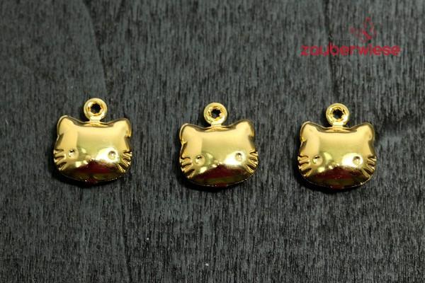 Katzenglöckchen gold, 3 Stück