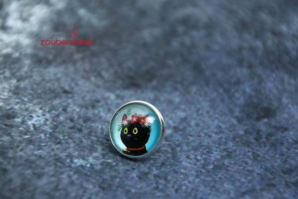 Cabochon Pin Katze