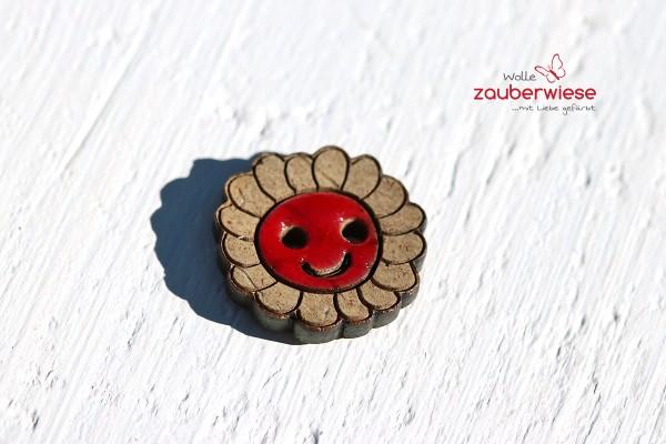 Kokosknopf Blume rot