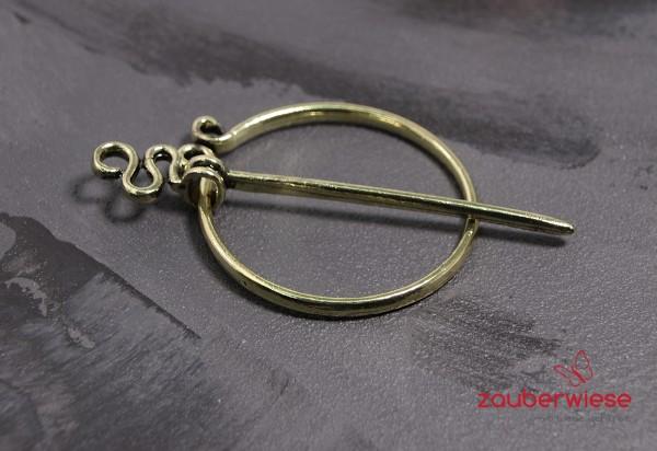 Schalnadel Ring goldfarben