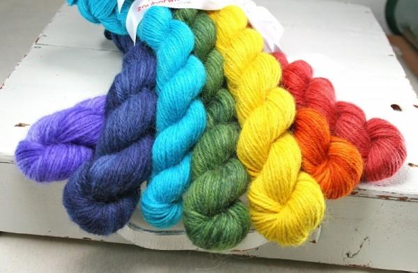 Regenbogen-Set, Alpaca 350g