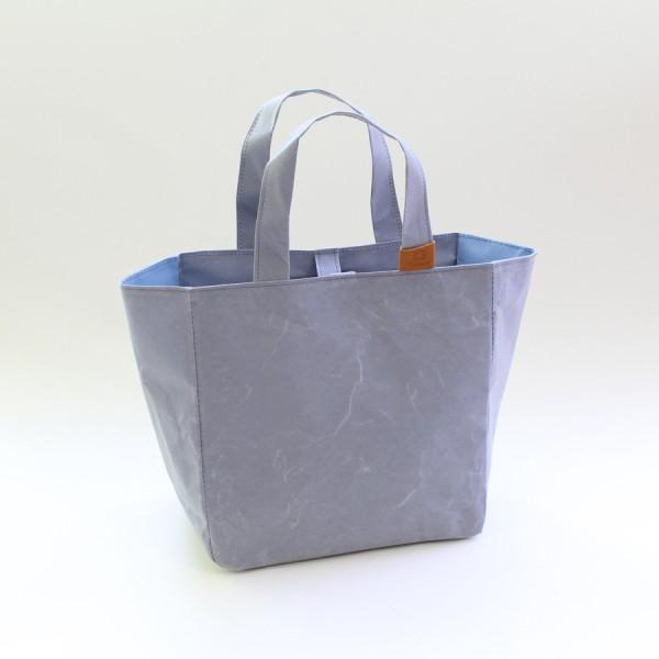 Washi Projekttasche grau/hellblau