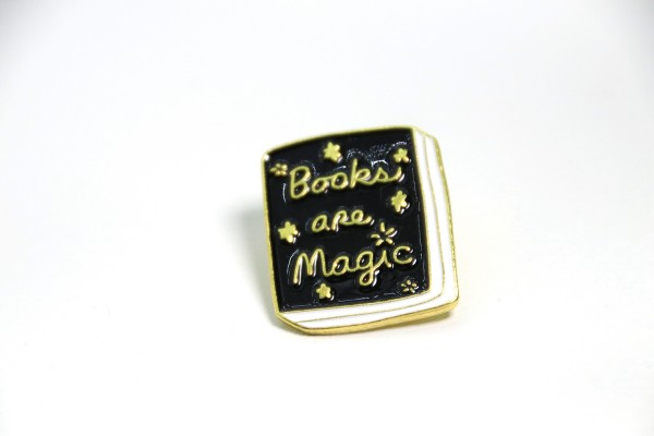 Emaille Pin Books are Magic