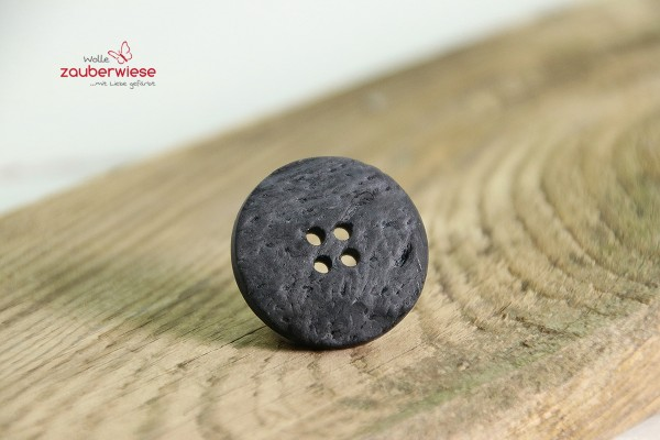 Kokosknopf 25mm schwarz