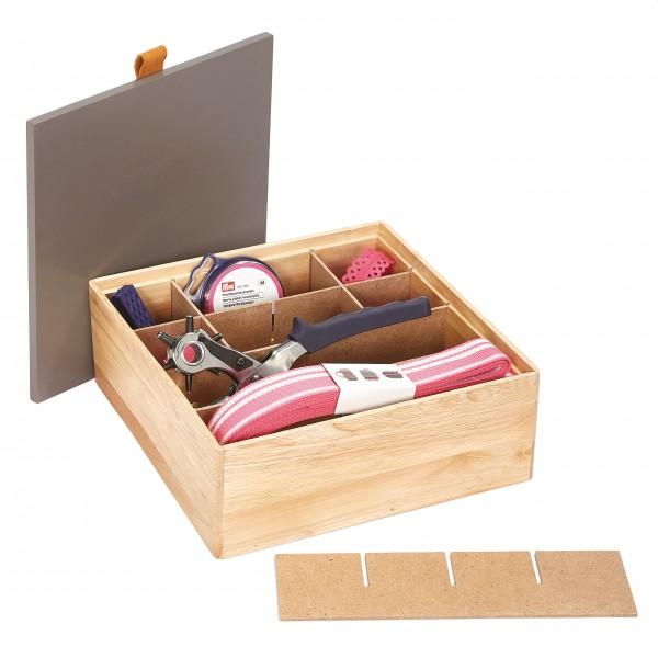 Sortimentsbox Holz M taupe, Prym