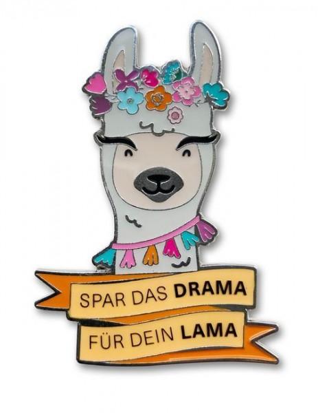 Emaille Pin - Spar das Drama für Dein Lama