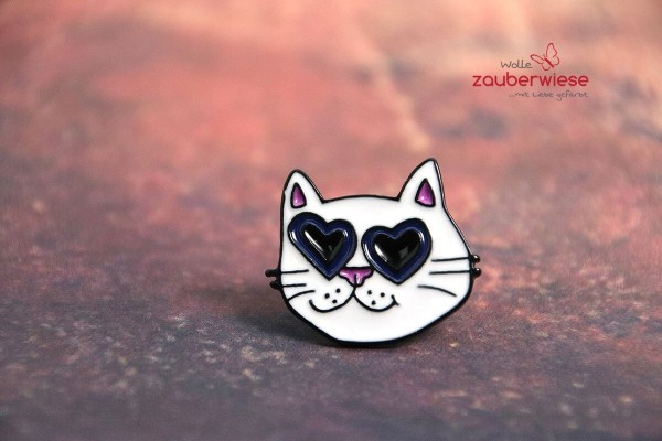Emaille Pin Katze Sonnenbrille