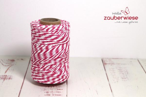 Bäcker Garn pink/weiss