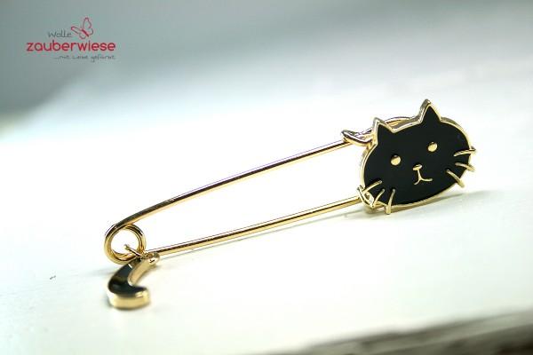 Schalnadel Katze schwarz