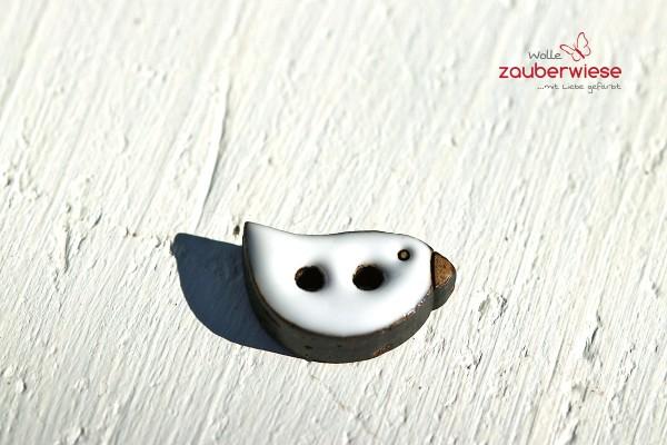 Kokosknopf Vogel weiß