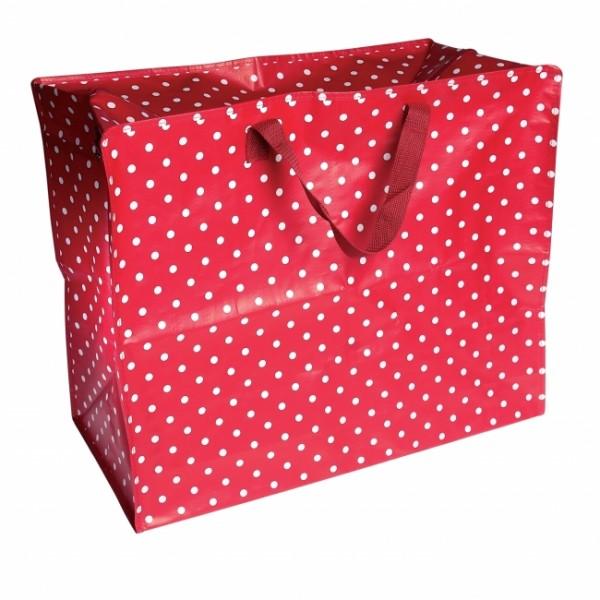 Jumbo Tasche rot gepunktet