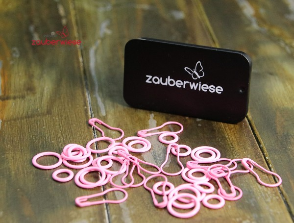 Maschenmarkierer 40 Stück, Mix rosa