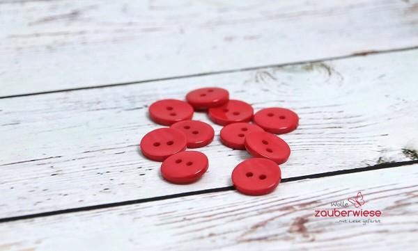 Knöpfe rot, 10Stk., 15mm