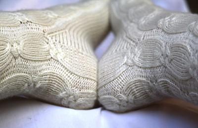 Zauberknoten-Socken