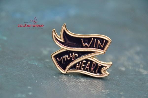 Emaille Pin win my heart