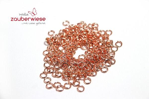 200 Biegeringe, 4mm, Farbe roségold