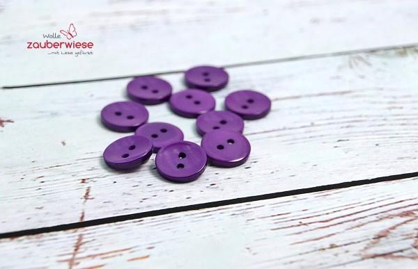 Knöpfe lila, 10Stk., 15mm