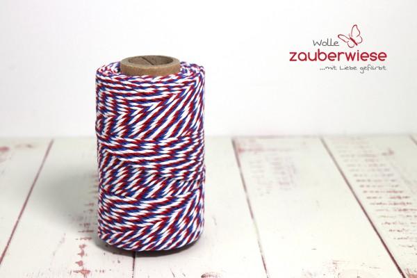 Bäcker Garn rot/weiß/blau