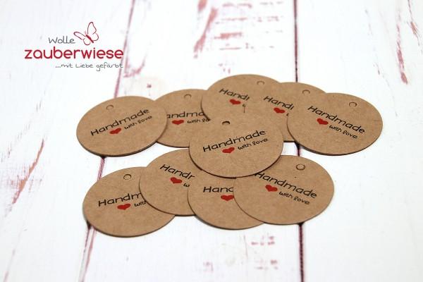 Anhänger handmade with love 10 Stück