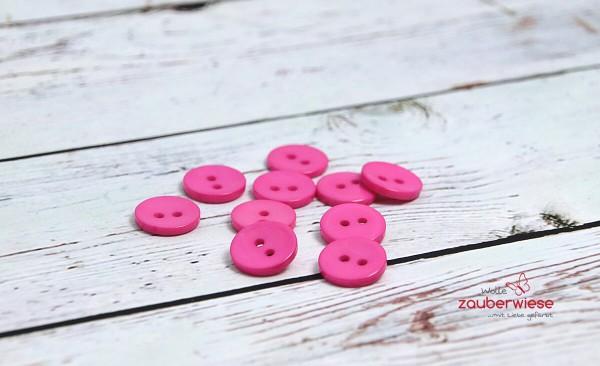 Knöpfe rosa, 10Stk., 15mm