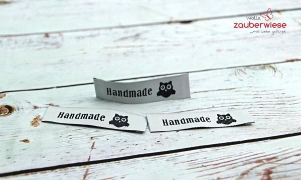 Etiketten Handmade Eule