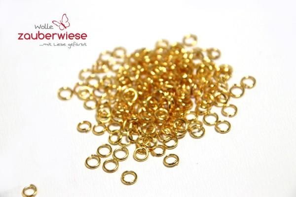 200 Biegeringe, 4mm, Farbe gold