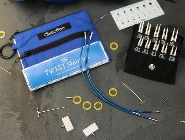 ChiaoGoo Twist Blue Shorties Set