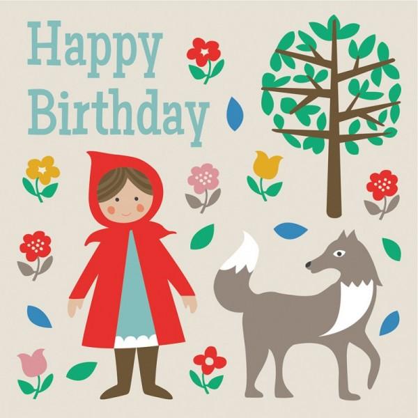 Geburtstagskarte Rotkäppchen
