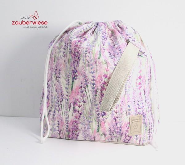 Strickbeutel Lavendel