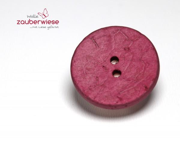 Kokosknopf 25mm magenta