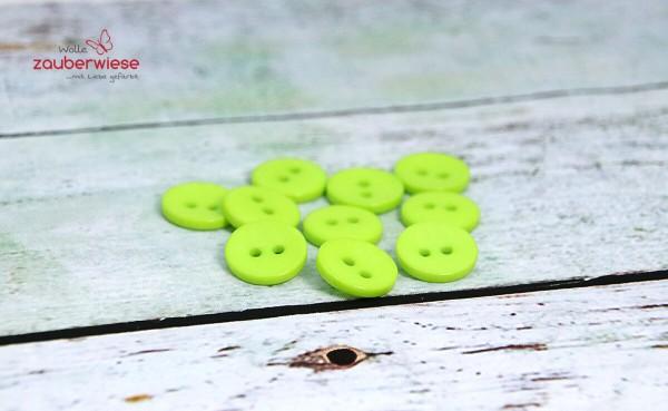 Knöpfe grün, 10Stk., 15mm