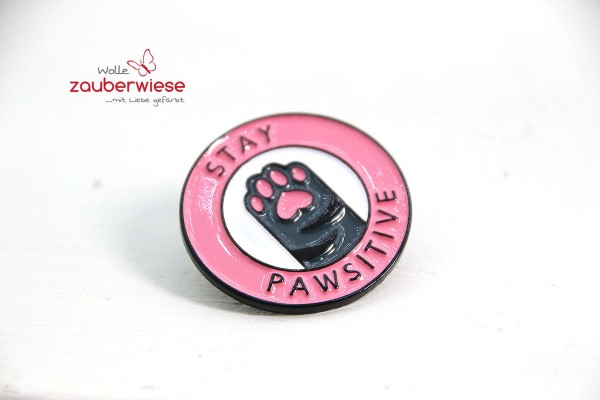 Emaille Pin stay pawsitive