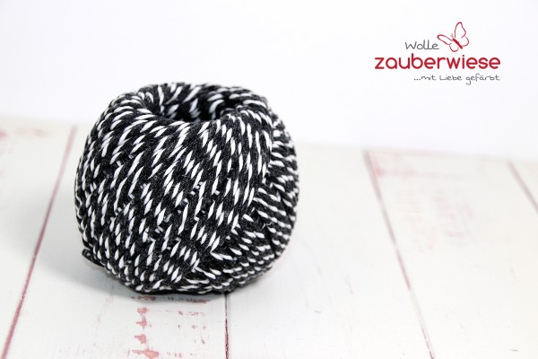 Baumwollgarn schwarz/weiß
