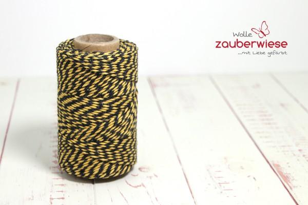 Bäcker Garn gelb/schwarz