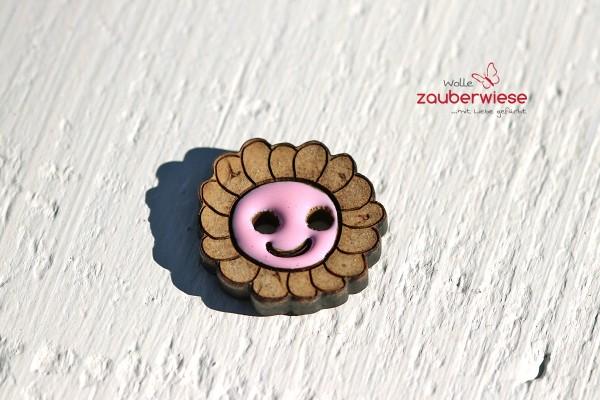 Kokosknopf Blume rosa
