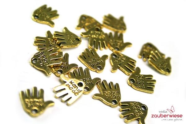 Hände handmade goldfarben, 20 Stück