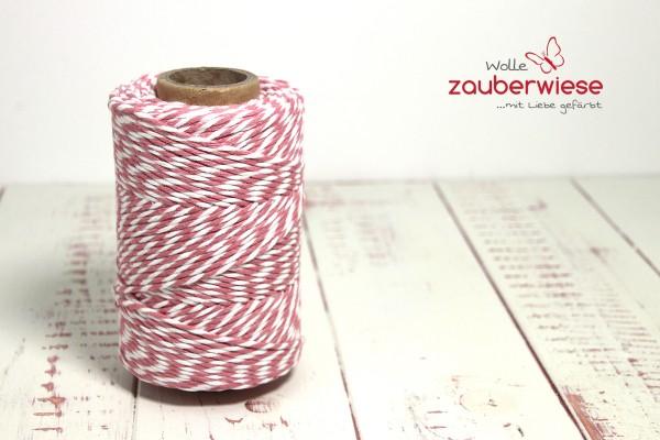 Bäcker Garn rosa/weiss