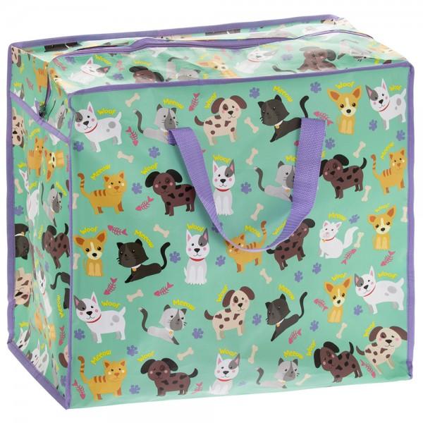 Jumbo Tasche Katzen und Hunde